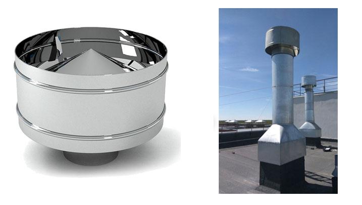 фото дефлектор для промышленных дымовых труб далекие